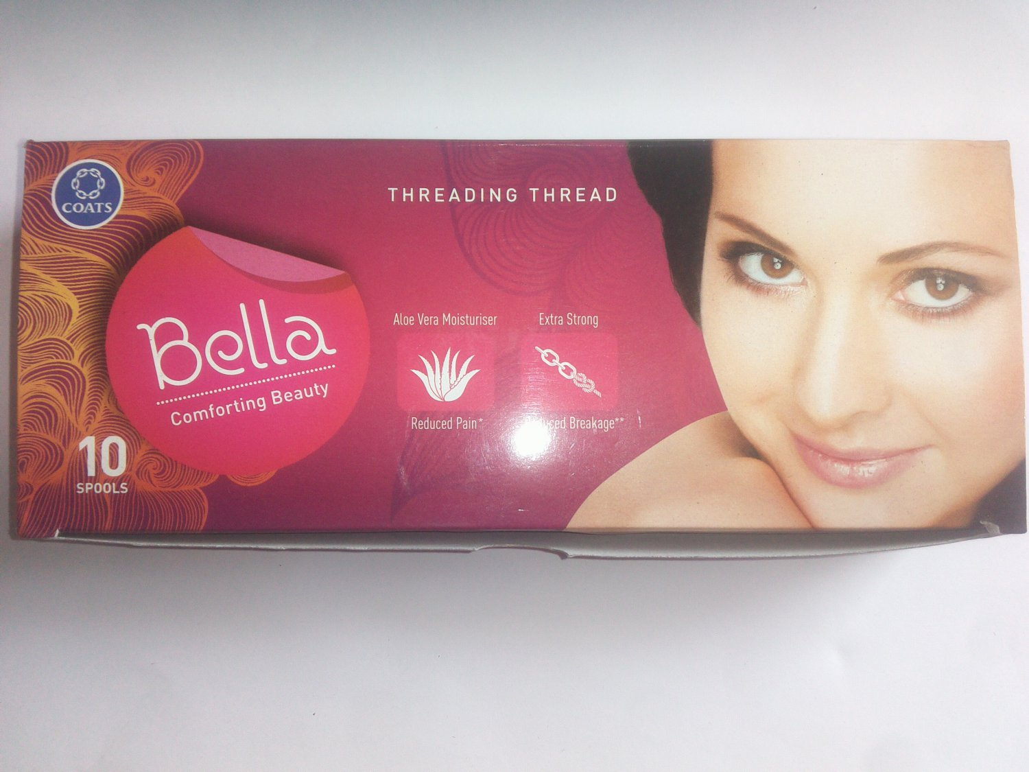 10xSpool Bella Eyebrow Face Facial Cotton Threading Threads Facial hair Remover