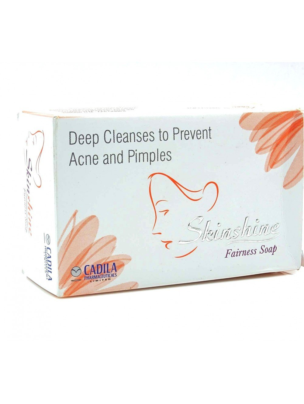 75gm Cadila Skin Shine Fairness Soap For Deep Cleanses To Prevent Acne & Pimples
