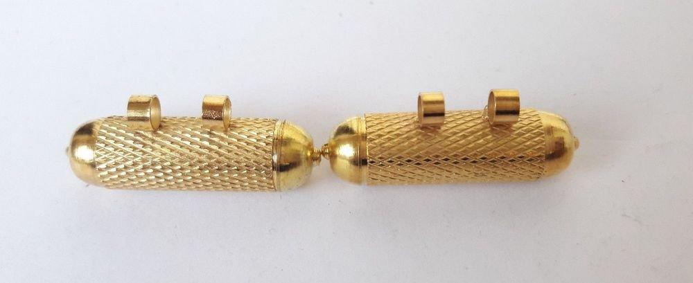 2x Spiritual Taweez Brass Hollow Charm Locket SIZE 1 Inch Length 1.25CM Width