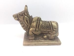 Rare Brass Nandi Hindu God shiva's mount spiritual & RELIGIOUS For Home Tample