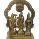 RAM DARBAR BRASS STATUE LORD RAMA WITH GODDESS SITA,LAKSHMANA AND HANUMAN INDIA