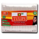 Tulips 200 PCS Of pure cotton two way tip swab ear buds untouched by hands+Ship