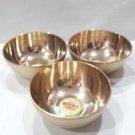 3 Brass Bowls Hindu Diwali Puja Items Havan Arti Tika Temple Gift Religious