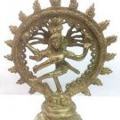Hindu Lord Shiva Nataraja Statue Lord of Dance Brass Metal Miniature Figure Deco