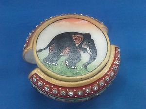 White Marble Tea Coaster Set Jaipur Hand Carfted Paint Art Home Decor Gifts+Ship