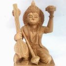 "6"" HANUMAN STATUE Hindu Monkey God HIGH QUALITY Kadam wood Hand Carved Rare"