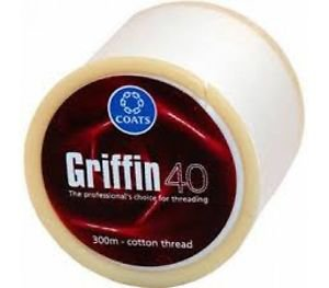2 Spool Griffin Eyebrow Cotton Threading Threads Antiseptic Facial hair Remover