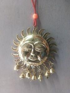 3.5'' Metal Sun Statue with hanging bells Vastu Surya Home Decor Free Shipping