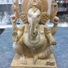 "8"" Wooden GANESH Statue Hand Carved Hindu Elephant God India Lord+Free Shipping$"