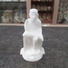 "Sai baba 5"" Sculpture Reglious Italian Marble Statue Handmade Ar Home Decorative"