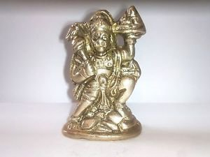 hanuman 100% Pure Brass Statue carry Dronagiri Parvat Bajrang Bali indian god