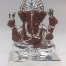 "Good Looking Silver Plated Lord Ganpati 2""Hindu God Puja Idol Ganesh Home Decor"