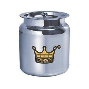 Ghee pot Crown Stainless Steel Ghee / Oil Pot 450 ml Free Shipping
