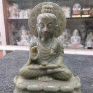 "6""New green gorara Marble Buddha Statue Sculpture Handmade Rare Statue Free Ship"