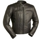 FMC THE CAFE A-LISTER MEN'S BLACK LEATHER JACKET FIM264NOCZ