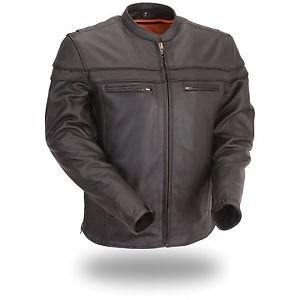 First Classics Men's Sporty Scooter Leather Jacket FIM262NTCZ