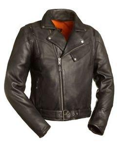 FMC Leather Biker Jacket 60's New Yorker Men's Updated M/C Jacket FIM210NOCZ