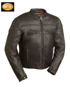 FMC STAKES RACER Men's Racing Scooter Style Leather Jacket, FIM226CCBZ