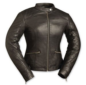 "FMC ""Black Diamonds"" Ladies Motorcycle Jacket FIL166CCBZ"