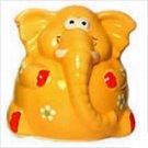 Large Yellow Happy Elephant Money Box