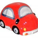 Glazed Ceramic Red Beetle Style Car Money Box