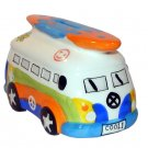 Rainbow Camper Van with Surfboard Money Box
