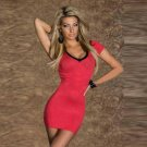 Deep V-Neck Lace up back Bandage regular sleeve Women Sexy Casual robe Dresses W203440A