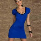 Deep V-Neck Lace up Bandage regular sleeve Women Sexy Casual Dresses W203440F