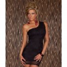 Women Summer One Shoulder Lace Sleeveless Solid Color Vestidos Bodycon Casual Dresses W203438A