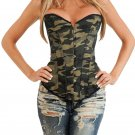 2017 New Womens Waist Corsets Army Green Overbust Corset Top Sexy And Unique Bustier W580885