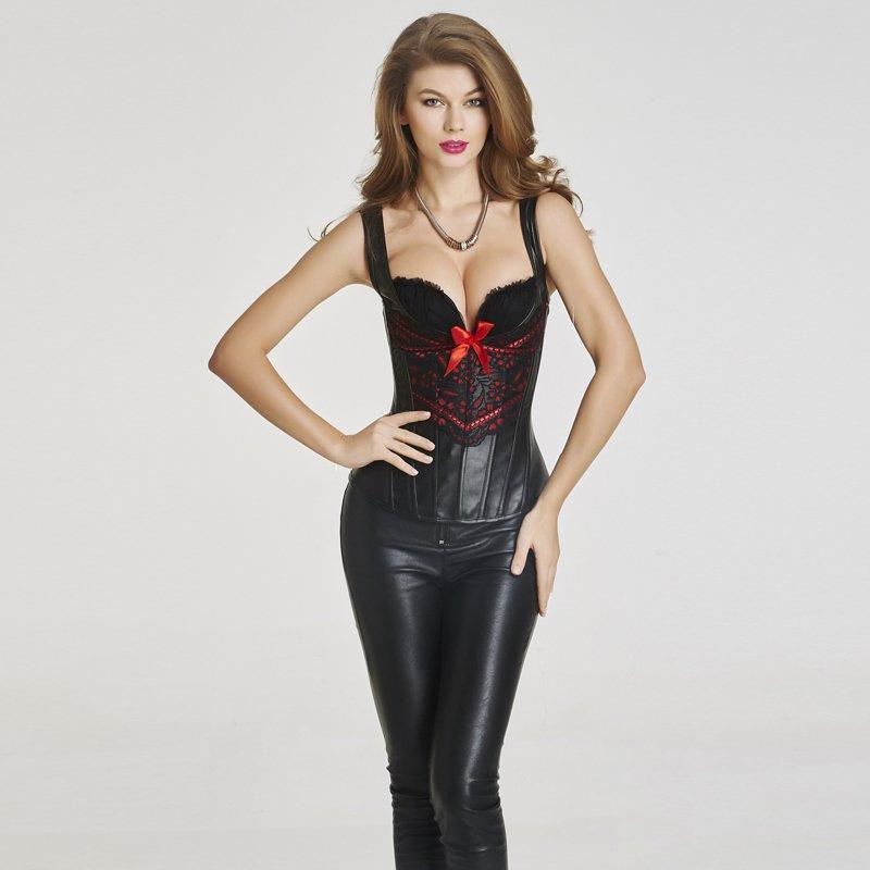 Ladies Straps Overbust Corset High Quality Bandage Ribbon Sliming Body Waist Control Women W46235
