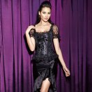 Women Plus Size Skirts High Quality Zipper Ruffles Hem Ladies Elegant Fashion Underdress W46149