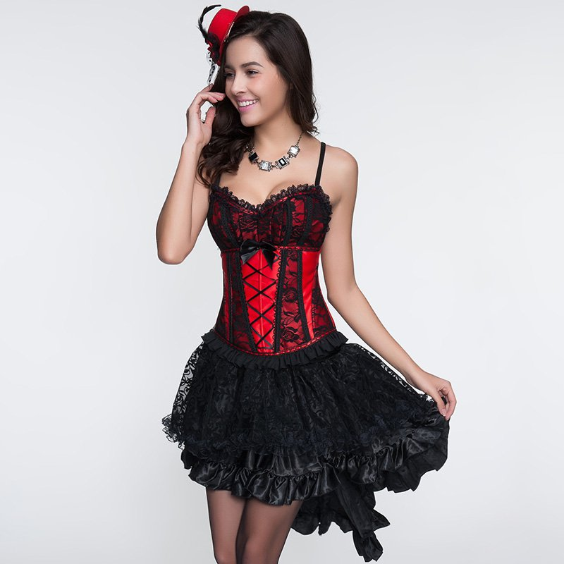 Women Underdress Skirts High Quality Black Zipper Asymmetrical Ladies Lace Floral Petticoat W46153