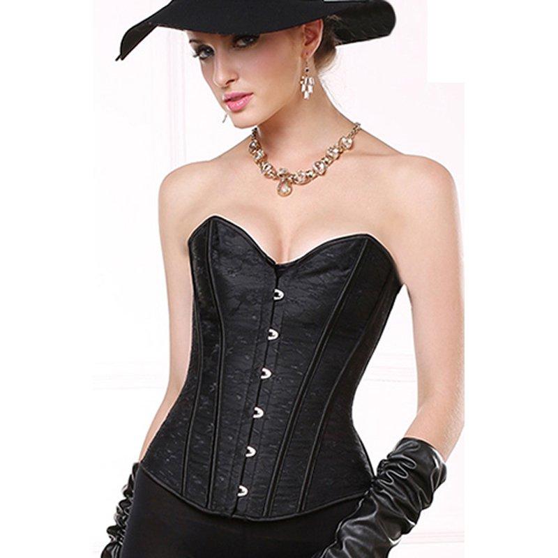 Women Strapless Corset Underwear Steampunk Burlesque Corselet Overbust Waist Slimming Corset W580817