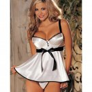 Summer Women Sexy Nightgowns Sleeveless Spaghetti Strap Satin Bow Tie Mini Sleepshirts W434190B