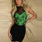 Elegant Women Dress Work Wear Sexy Formal Dress Lace Stiching Package Hips Mini Bodycon W203105A