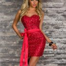 Sexy Women Dress New Summer Strapless High Quality Backless Ladies Mini Bodycon Clubwear W343206B