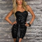 Sexy Women Dress New Summer Strapless High Quality Backless Ladies Mini Bodycon Clubwear W343206D