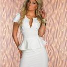 Summer New Hot Sale Women Work Suit Dress U-Neck Ol Peplum Cocktail Dress W203078A