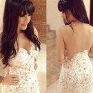 Floral Cute Club Fashion Women White Sweets Summer Elegant Bodycon Mini Girl Women Dress W910033