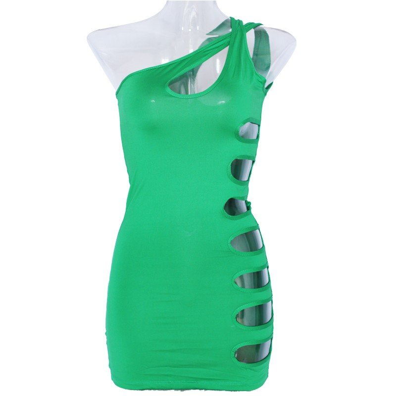 Sexy Summer Summer Style Women' s Tube Cut Out Bodcyon Dress Mini Night Clubwear W123411B