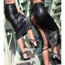 PU Leather Skirt Sexy Women Slim Straight Black PVC Skirt Vinyl Latex Bondage Clubwear W1126