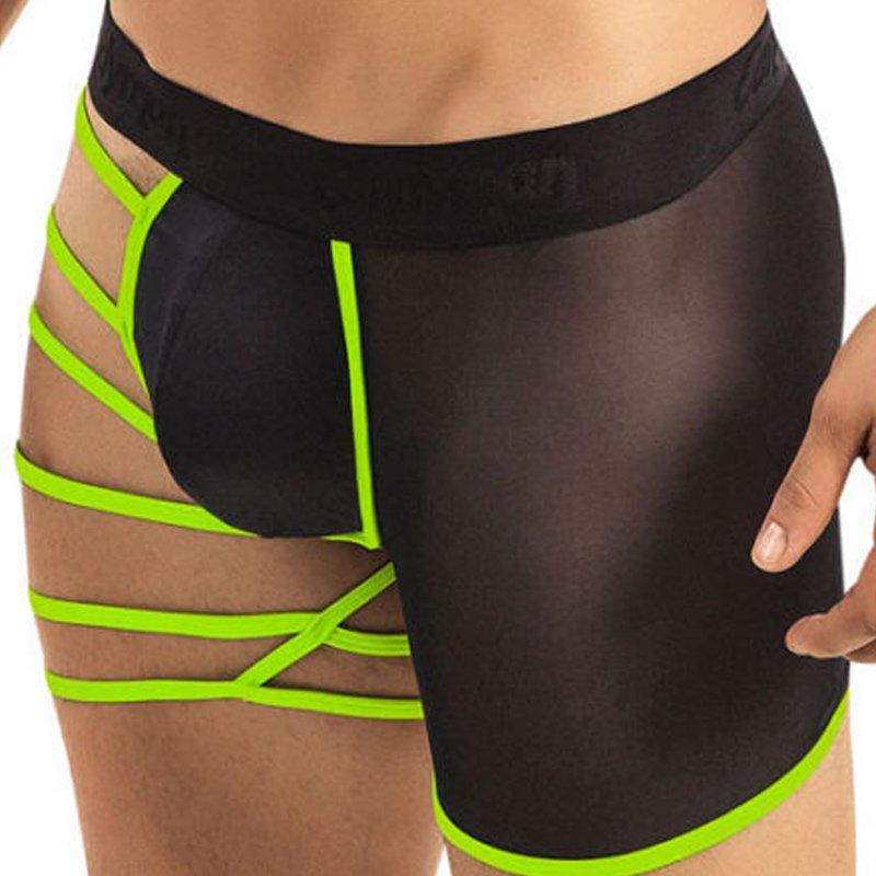 Sexy Man Boxer Shorts Lingerie Gay Panties Net Yarn Night Exotic Sleepwear Underwear W860832A