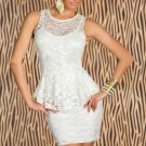 New Sexy Summer OL Work Lace Peplum Formal Dress Sexy Night Clubwear Women W203010B