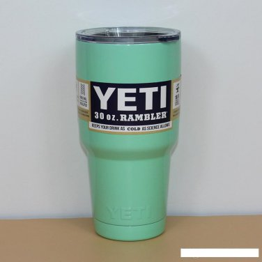 Colored YETI Rambler Tumbler 30 Oz Light Green Color Stainless