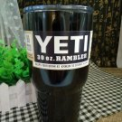 Colored YETI Rambler Tumbler 30 Oz Black Color Stainless