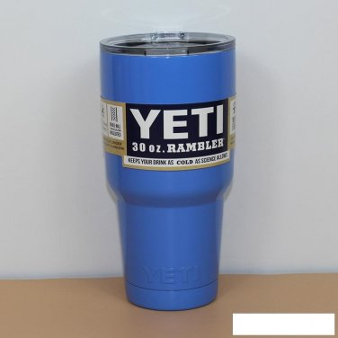 Colored YETI Rambler Tumbler 30 Oz Blue Color Stainless
