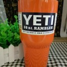 Colored YETI Rambler Tumbler 30 Oz Orange Color Stainless