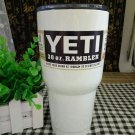 Colored YETI Rambler Tumbler 30 Oz White Color Stainless