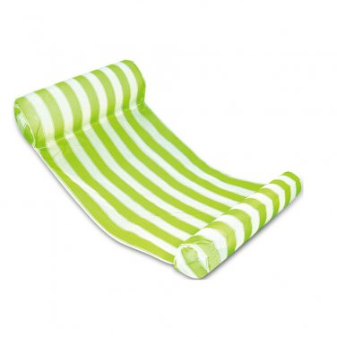 Green Stripes Color Floating Inflatable Air Mattress for Swimming Activity